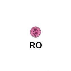 Bioplast Nasenpiercing (Aufsatz 2.35 mm) Rose